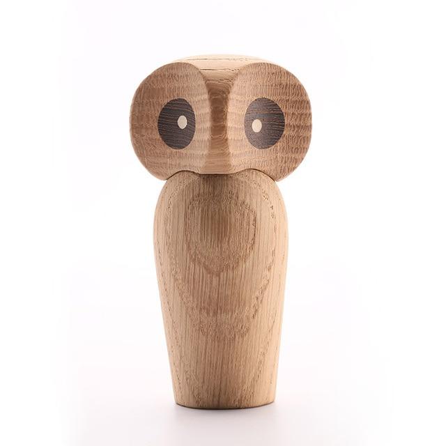 Wood Owl ornament Gift Creative Home Decoration accessories decor figurine modern miniature figurines decoracao para casa maison 1