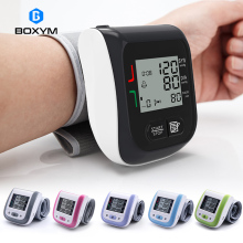 BOXYM Medical Digital LCD Wrist Blood Pressure Monitor Automatic sphygmomanometer Tonometer wrist Blood Pressure Mete Tonometer