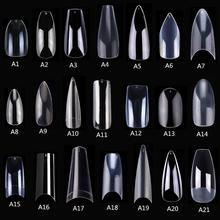 Makartt 500pcs Coffin Fake Nail  Tips Clear Natural XXL Gel Tips Full Cover False Acrylic Stiletto Ballerina Nails Press on Nail