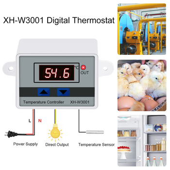 Digital LED Temperature Controller For Incubator Cooling Heating Switch Thermostat NTC Sensor Temperature Controller Switch image