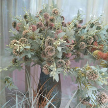 Plastic Flowers Home-Decoration Real-Touch-Dandelion Fake-Plants Green 90cm 10-Heads