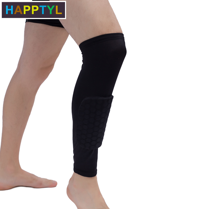 HAPPTYL Leg Support Pads Honeycomb Compression Calf Sleeve Protector Gear Knee Pad Crashproof Antislip Basketball Protective Pad