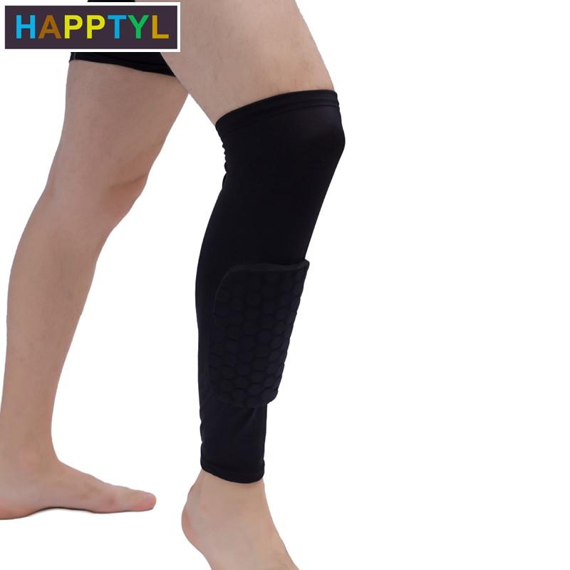 HAPPTYL Leg Support Pads Honeycomb Compression Calf Sleeve Protector Gear Knee Pad Crashproof Antislip Basketball Protective Pad