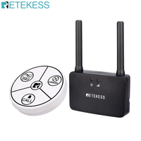 Retekess 1 Self Powered waterproof Call Button and 1 Signal Amplifier pager waiter calling system wireless call  cafe restaurant|Pagers| |  -