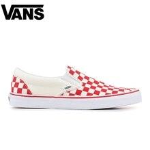 Original Vans Old Skool Men Skateboarding Shoes Comfortable  Black Plaid Pattern Women Canvas Sneakers Size 36-44   Luxury brand