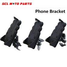Alconstar-suporte do telefone móvel guiador montar suporte bicicleta motocicleta celular clipe para iphone samsung gps clipe de montagem rápida