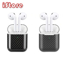 For AirPods AirPods2 protective case Apple Wireless Bluetooth Headset Charging Case Protective Carbon fiber material