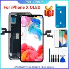 "1PC ZY החדש OLED באיכות LCD מסך עבור iPhone X XS XR 10 5.8 ""LCD OLED תצוגת Digitizer עצרת החלפת 3D"