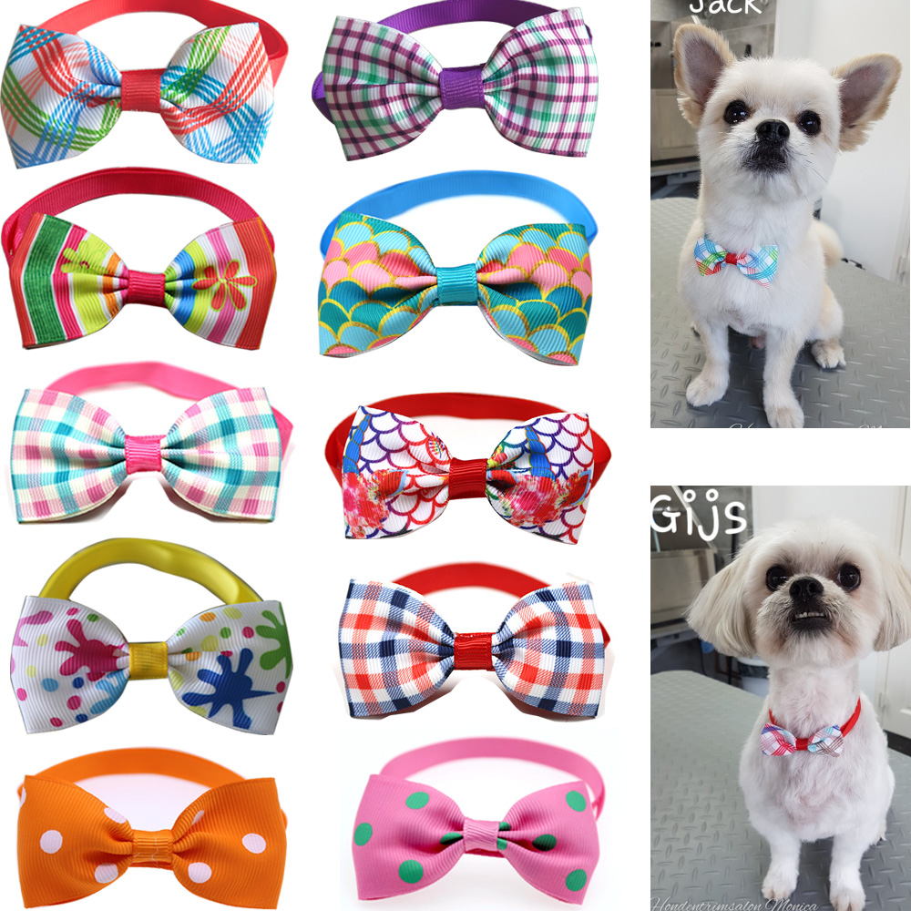 font b Pet b font Accessories New Style Colorful Puppy Dog Grooming Bow Tie Adjustable