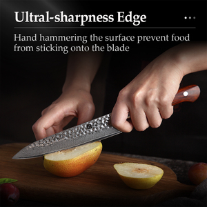 Image 5 - XINZUO 6 Utility Knife vg10 Damascus Steel Kitchen Utility Knives for vegetables Rosewood Handle Stainless Steel Paring Knife