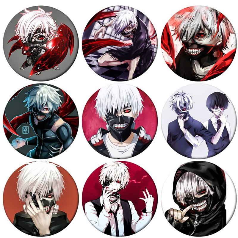Anime Tokyo Ghoul Brooch Pin Badge Accessories For Clothes Backpack Decoration Children's Gift
