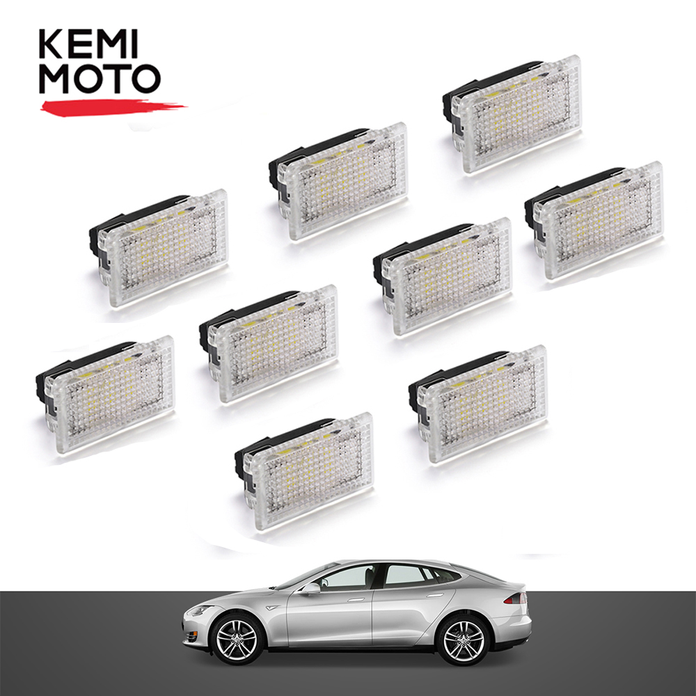 9pcs Upgrade LED Interior Light For Tesla Model 3 Model S Model X Easy Plug Replacement Indoor Trunk Light LED Light
