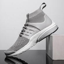Sneakers Men Casual Shoes Breathable Men Flyknit Shoes Outdoor Walking Footwear Comfortable Male Trainers Chaussures Yasilaiya ecco fashion brand men s casual shoes cow leather walking footwear round head breathable comfortable outdoor sneakers shoes