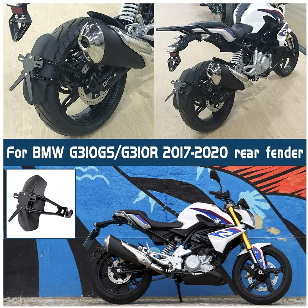 Motorcycle For <font><b>BMW</b></font> <font><b>G310R</b></font> G310GS Fender Rear Cover G310 GS G310 R 2017 2018 2019 2020 Back Mudguard Splash Guard Protector Black image