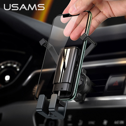 USAMS Phone Holder Stand Phone Car Holder Gravity Smartphone Holder Air Vent Clip Mount GPS Support For iphone Xiaomi Samsung