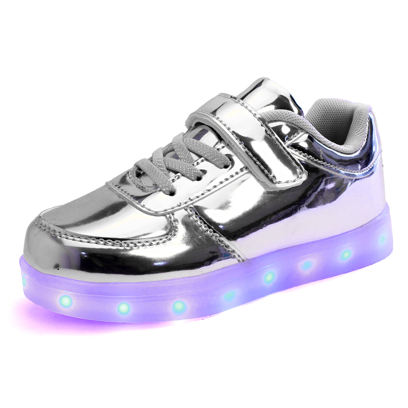 JawayKids Led Shoes For Child USB Chargering Light Up Shoes For Boys Girls Glowing Christmas Sneakers