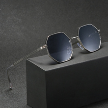 Sunglasses Men Vintage Octagon Metal Sunglasses for Women Luxury Brand Goggle Sun Glasses Ladies Gafas De Sol