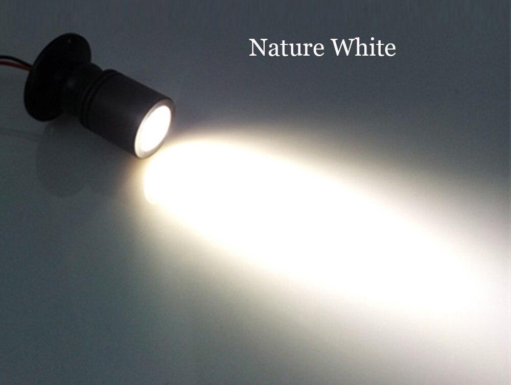 10 шт./лот затемнения светодиодные светильники для белый Потолочный Точечный светильник на потолок алюминиевый 110 v-220 v дома подсветка для шкафов отверстие Размеры 28 мм - Испускаемый цвет: Белый
