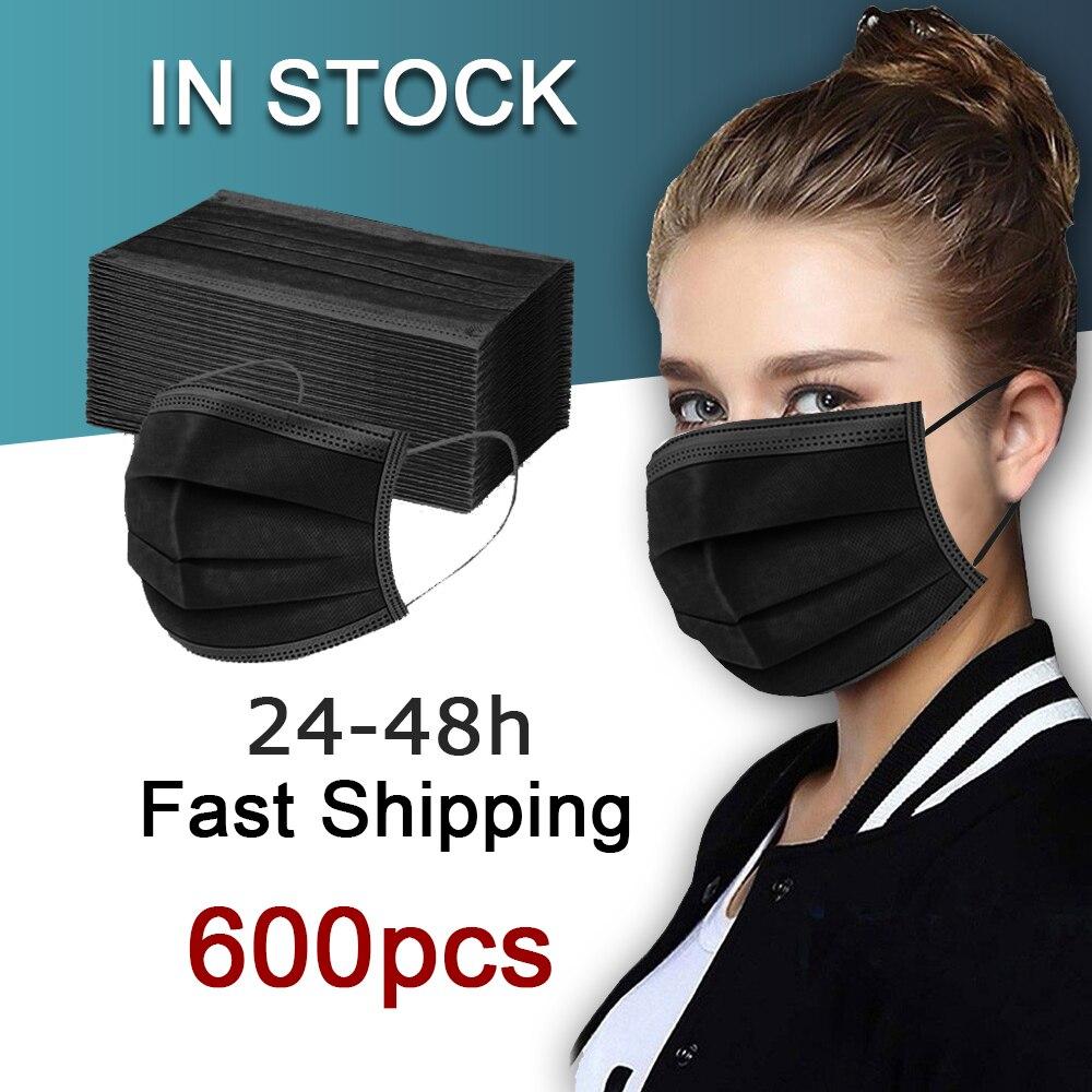 Оптовая торговля одноразовый детский уход за кожей лица маска для взрослых черная маска синий mascarillas negras маска noir 100 200 unidades 50/100/200/500/600 шт