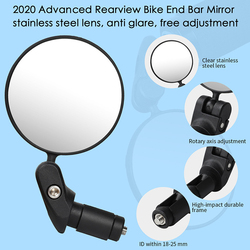 Руль для велосипеда, зеркало для горного велосипеда, MTB, зеркало для езды на велосипеде, зеркало заднего вида, Аксессуары для велосипеда