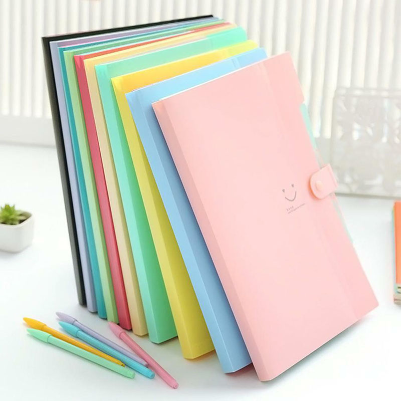 New Portable High Quality Waterproof Office Plastic Folders Multi Pocket Organizer A4 File Expansion Document Folder Binder