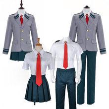 Boku no Hero Academia mi héroe Academia de verano y Winiter uniforme Midoriya Izuku Bakugou Katsuki Ochaco Uraraka Cosplay traje