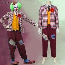 DC Joker 2019 Film Costume The Cosplay Arthur Fleck Batman Vest Mask Wigs T-shirt Suit Coat Blazer Adult Halloween Custom