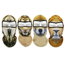 Motorcycle Face Mask Creative Mens Outdoor Sports Windproof head animal pattern motocross face mask motorcycle