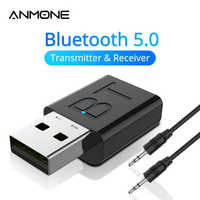 New USB Bluetooth 5.0 Audio Receiver Transmitter Car AUX Cable Kit Bluetooth Transmitter For TV PC Wireless Adapter For Car