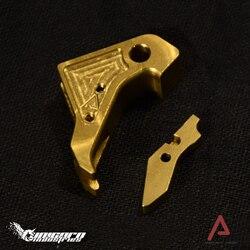 AA äußere trigger gold ID: 4000472902524 GLOCK 17 TM systerm metall äußeren trigger fit Kublai P1 Einhorn branchen CNC schneiden