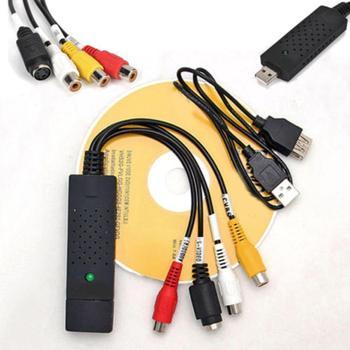 USB 2 0 Audio wideo VHS na DVD konwerter PC karta przechwytująca Adapter do wygrania 10 USB Audio Audio wideo konwerter wideo tanie i dobre opinie BLUELANS 55269