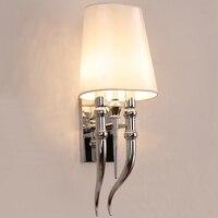 블랙/화이트 전등 갓 & 금속 바디 벽 조명 현대 거실 식당 침실 벽 램프 AC85-265V sconce 전등 e14
