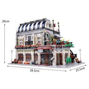 Image 5 - Yeshin MOC City Street Toys Compatible Restaurant Creative Toys Building Blocks Children Christmas Gift