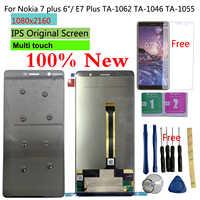 "Shyueda Original 6,0 ""LCD Für Nokia 7 plus/E7 Plus TA-1062 TA-1046 TA- 1055 LCD Display Touchscreen Digitizer + glas film"