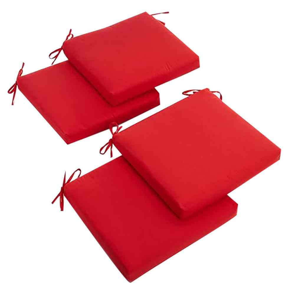 8 pc Seat cushion Indoor or Outdoor Square Chair Zippered Seat