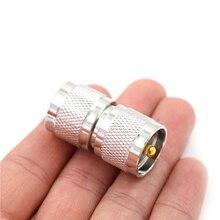 1X UHF PL259 штекер для UHF PL-259 штекер RF коаксиальный разъем адаптера двойной прямой длинный разъем РЧ коаксиального адаптера