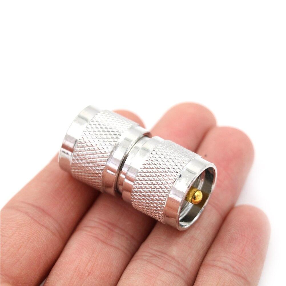 1x macho da frequência ultraelevada pl259 à frequência ultraelevada PL-259 tomada macho rf conector do adaptador coaxial duplo em linha reta longo rf conector do adaptador coaxial