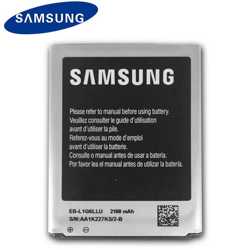 Samsung Original Phone Battery EB-L1G6LLU For Galaxy S3 I9300 I9308 L710 I535 With NFC Genuine Replacement Battery 2100mAh