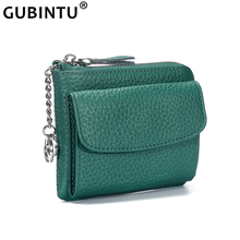 Women Wallets Genuine Leather Lady Mini Zipper Coin Purse Female Small Change Purse Credit Card Holder Coin Wallet with Key Ring стоимость