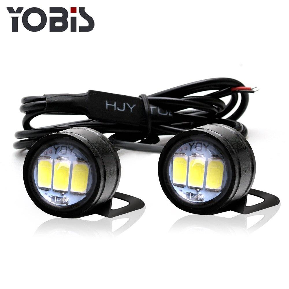 2PCS Motorcycle Hawk-eye Lamp Ghost-fire Lamp Modification Component Information Hawk Pedal LED Mirror Flash Hooligans Lamp 12V
