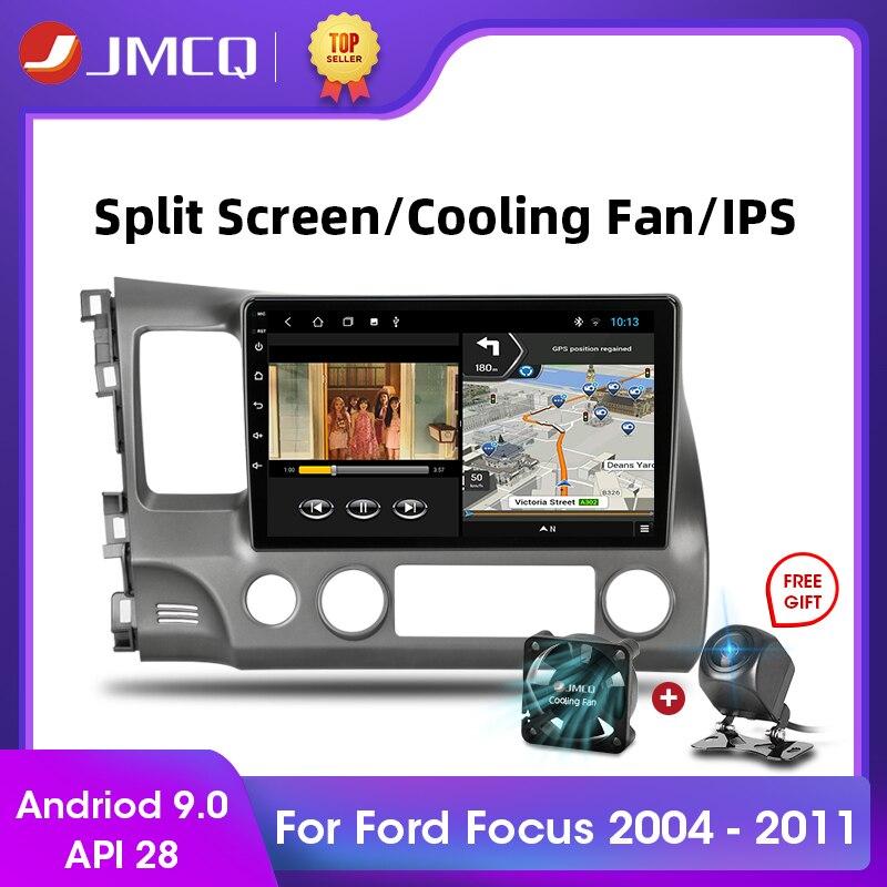 JMCQ Android 9,0 2 + 32 ГБ DSP автомобильное радио Multimidia видео плеер навигация GPS стерео для Honda Civic 2005-2012 2din головное устройство
