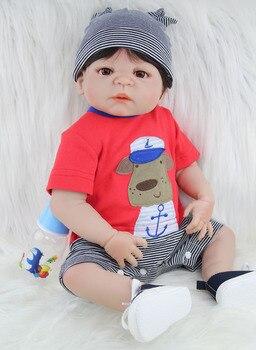 BZDOLL 22 Full Silicone Reborn Baby Doll Toy Lifelike 55cm Newborn Boy Babies Doll Lovely
