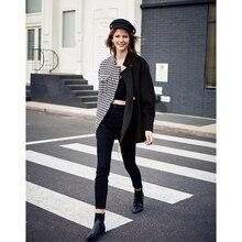 Ael asymmetry blazer casual casaco de lã outono inverno moda andorinha gird baseado senhoras moda wear 2019 novo