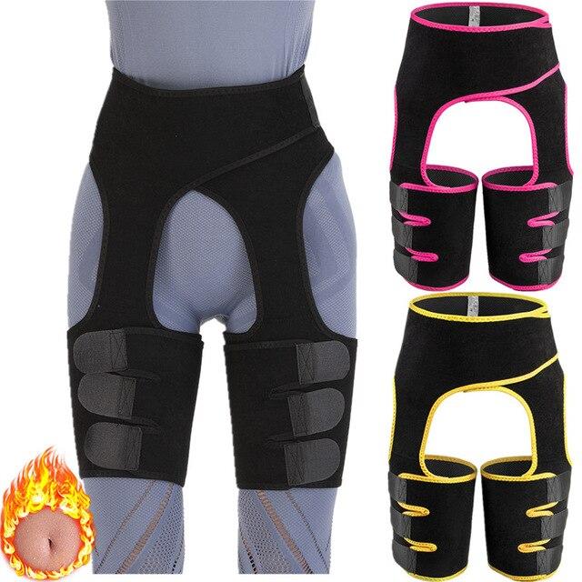 Waist Support Neoprene Slim Thigh Trimmer Leg Shapers Slimming Belt Waist Trainer Sweat Shapewear Fat Burning Compress Belt