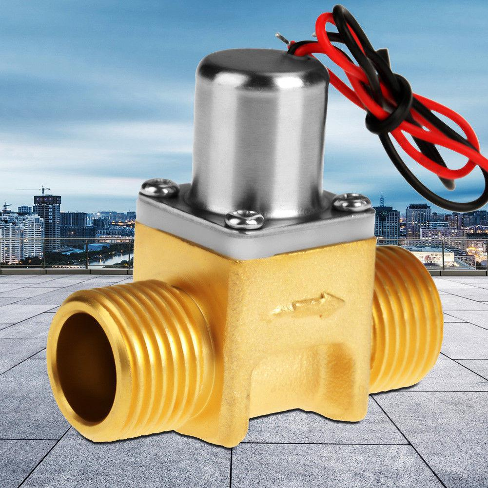 HiMISS DC4.5V 1/2in Water Pulse Magnetic Valve For Induction Cleaning Garden Irrigation(211B Copper)