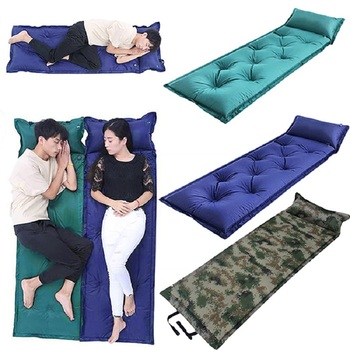 Outdoor Camping Sleeping mat Tent Pad Nylon Portable Waterproof Moisture-proof Air Cushion Inflatable Mattress Camping bed sheet high quality multiplayerpvc aluminum film moisture pad 2 2m side tent moisture pad picnic mat sleeping pad