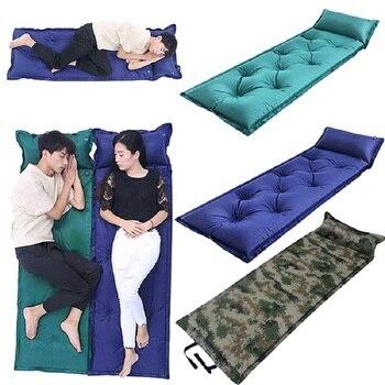 цена на Outdoor Camping Sleeping mat Tent Pad Nylon Portable Waterproof Moisture-proof Air Cushion Inflatable Mattress Camping bed sheet