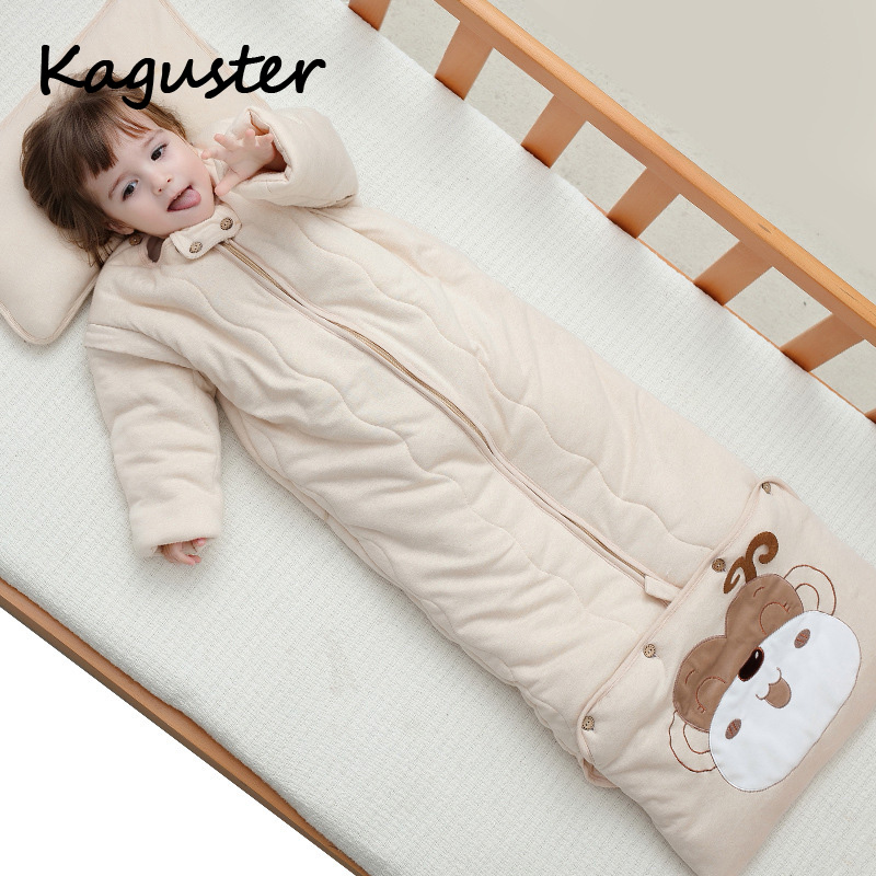 Children Camping Sleeping Bag Vacuum Bed Kids Sleeping Sack Infant Toddler Winter Summer Cartoon Animals Sleep Bag