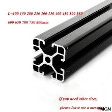 1PC czarny 4040 europejski Standard anodyzowany profil aluminiowy wytłaczanie 100-800mm długość liniowa szyna do drukarki 3D CNC CNC