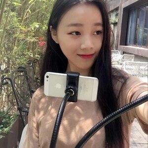 Image 5 - Universel Selfie Lumière avec Portable Flexible Support Pour Téléphone Support Paresseux Bureau Lampe Lumière LED POUR LE flux En Direct Bureau Cuisine
